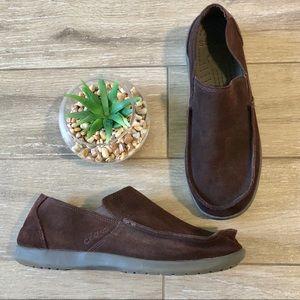 Crocs Suede Santa Cruz Loafers Slip-On Brown